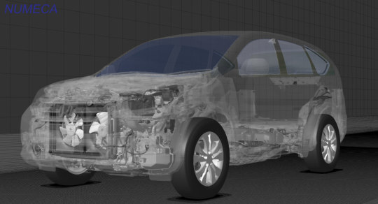 Full car automatic unstructured mesh using HEXPRESS™/Hybrid - Courtesy of Honda