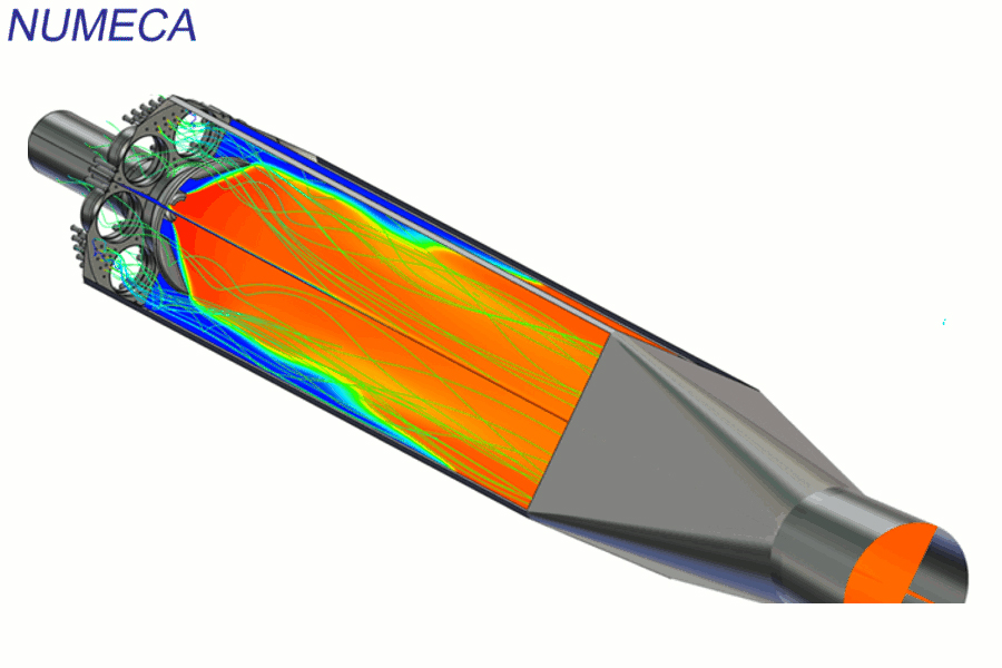 Labscale Siemens combustor - simulation performed with FGM combustion model