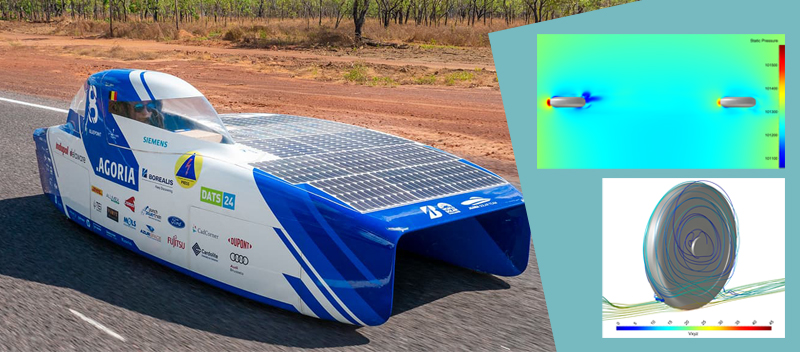 One of the most important objectives of solar-powered car development is to minimize power consumption by reducing drag
